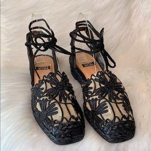 Stuart Weitzman • Espadrille Wrap Lace Sandals